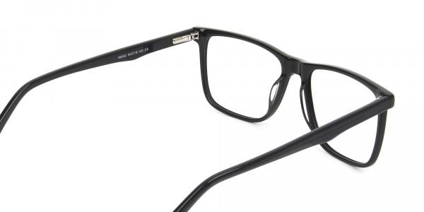 Dark Grey Acetate Glasses in Rectangular - 5