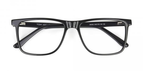 Dark Grey Acetate Glasses in Rectangular - 6