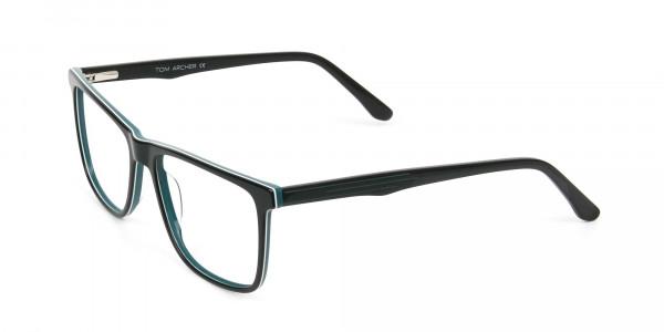 Designer Black & Teal Spectacles in Rectangular - 3
