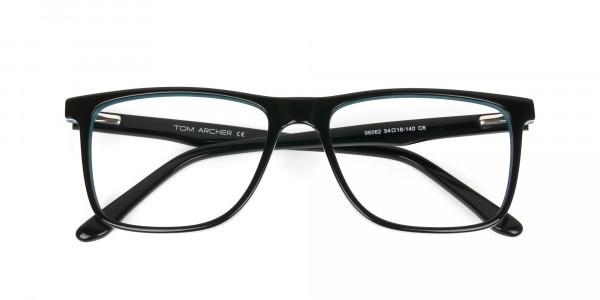 Designer Black & Teal Spectacles in Rectangular - 6