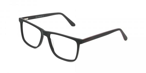 Matte Silver Grey Rectangular Glasses - 3