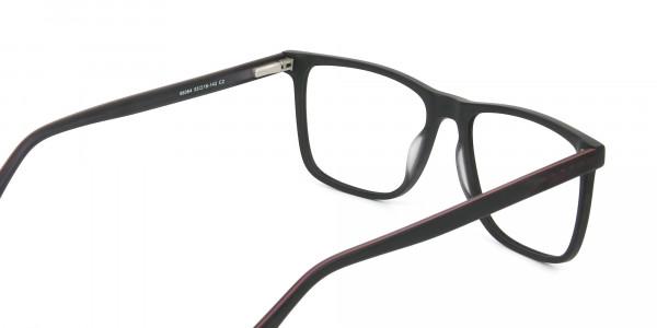 Matte Silver Grey Rectangular Glasses - 5