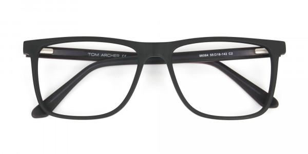 Matte Silver Grey Rectangular Glasses - 6
