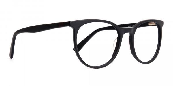 Designer-matte-Black-Full-Rim-Round-Glasses-Frames-2