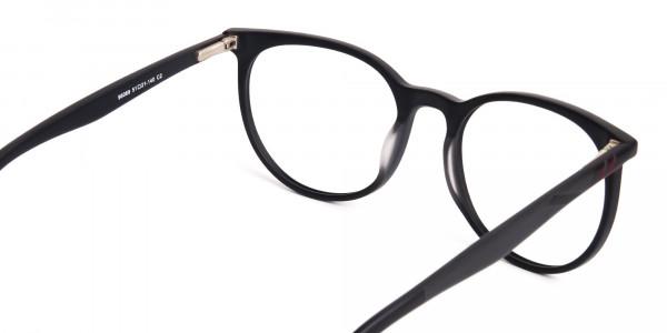 Designer-matte-Black-Full-Rim-Round-Glasses-Frames-5