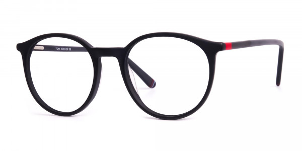 Matte-black-full-rim-Round-Glasses-frames-3