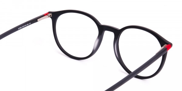 Matte-black-full-rim-Round-Glasses-frames-5