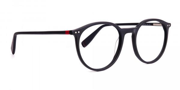 Matte-Dark-Grey-Round-Glasses-frames-3