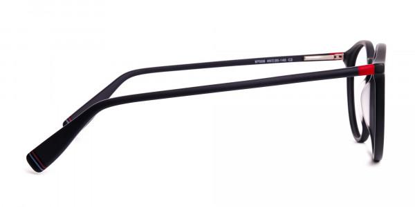 Matte-Dark-Grey-Round-Glasses-frames-4