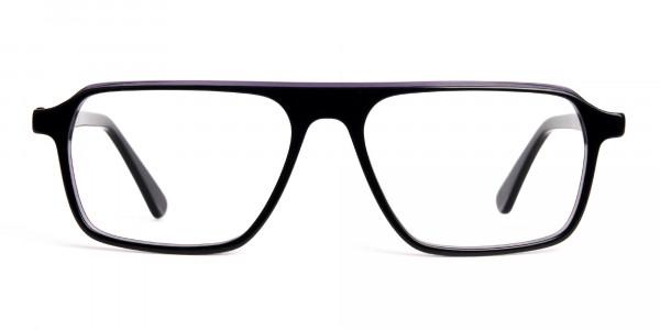 Black-and-Grey-Rectangular-Full-Rim-Glasses-frames-1