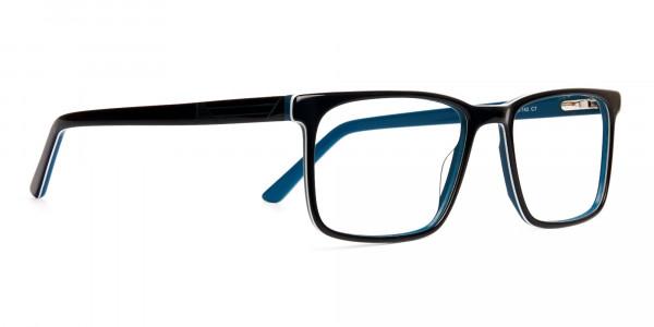 designer-Black-and-teal rectangular-glasses-frames-2