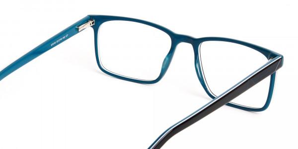 designer-Black-and-teal rectangular-glasses-frames-5