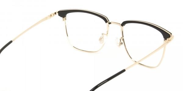 Wayfarer Black & Gold Browline Glasses - 5