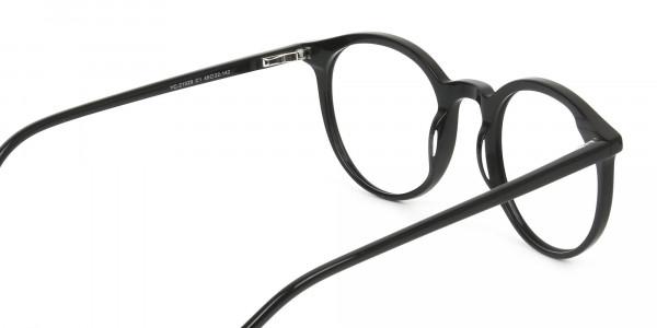 Black Thin frame glasses in Round - 5