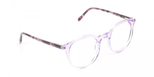 Crystal Pastel Purple & Rose Red Tortoise Glasses - 2