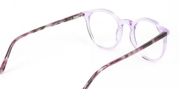 Crystal Pastel Purple & Rose Red Tortoise Glasses - 5