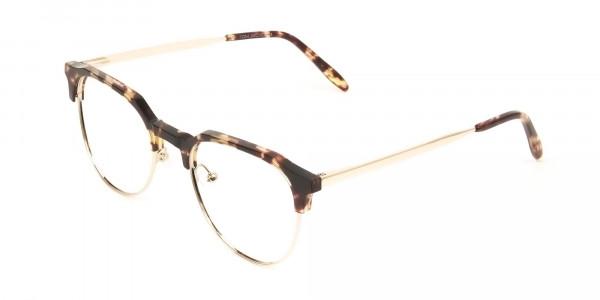 Clubmaster Glasses Tortoise & Gold - 3