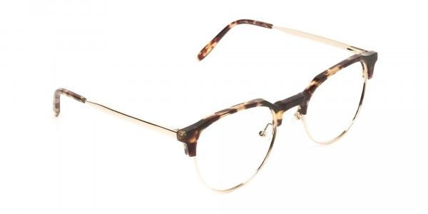 Clubmaster Glasses Tortoise & Gold  - 2