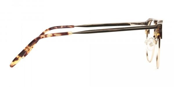 Clubmaster Glasses Tortoise & Gold - 4