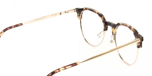 Clubmaster Glasses Tortoise & Gold - 5