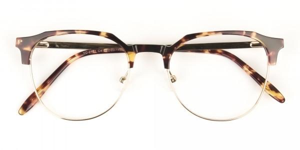 Clubmaster Glasses Tortoise & Gold - 6