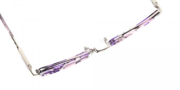 Purple Tortoise Cat-Eye Round Glasses - 6
