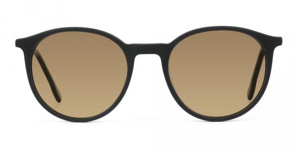 dark-brown-matte-black-sunglasses - 1