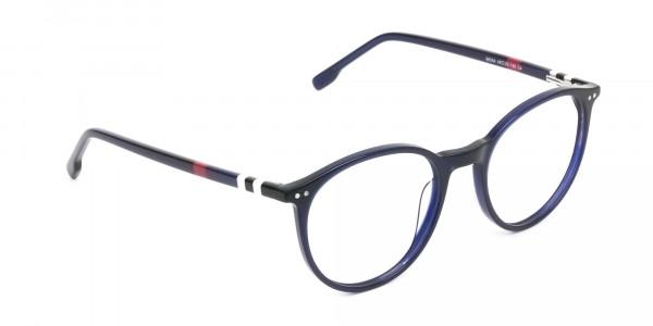 Designer Navy Blue Acetate Eyeglasses - 2