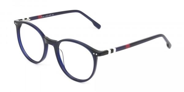 Designer Navy Blue Acetate Eyeglasses - 3