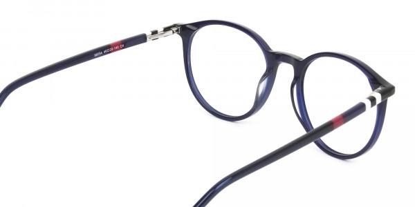 Designer Navy Blue Acetate Eyeglasses - 5