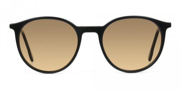 Dark-brown-black-round-sunglasses