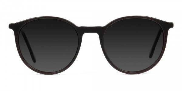 Dark-grey-tinted-dark-brown-sunglasses - 1