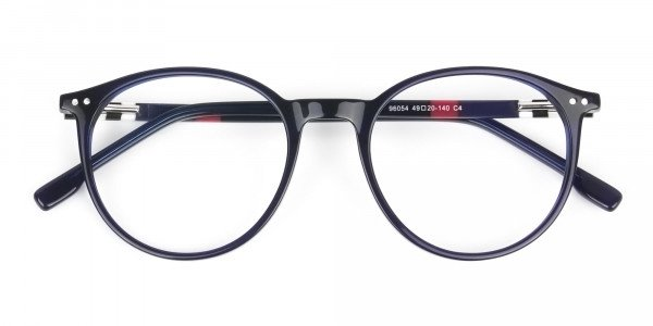 Designer Navy Blue Acetate Eyeglasses - 6