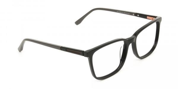 Rectangular Sporty Looks Black Casual Glasses - 2