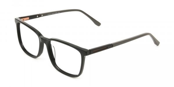 Rectangular Sporty Looks Black Casual Glasses - 3