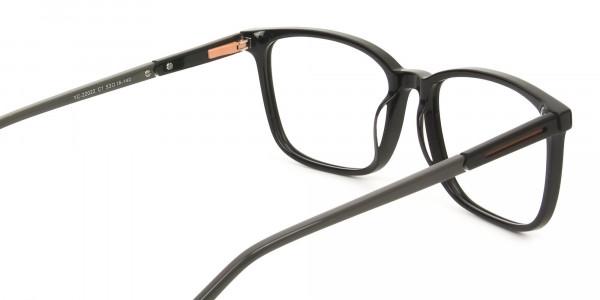 Rectangular Sporty Looks Black Casual Glasses - 5