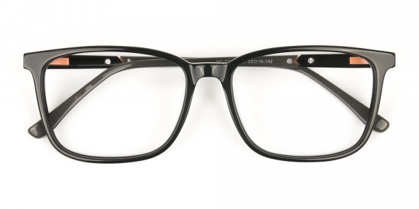 Rectangular Sporty Looks Black Casual Glasses - 6
