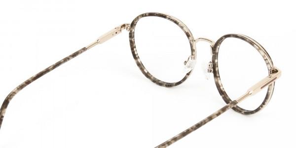 High Nose Bridge Glasses in Tortoiseshell Round Frame -5