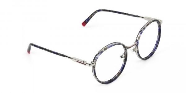Ocean Blue Tortoise & Silver Eyeglasses - 2