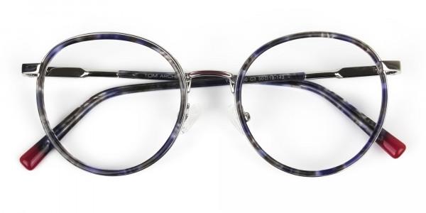 Ocean Blue Tortoise & Silver Eyeglasses - 7