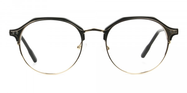 Gold & Black Weightless Glasses in Mixed Material - 1