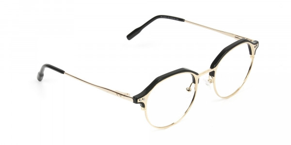 Gold & Black Weightless Glasses in Mixed Material - 2