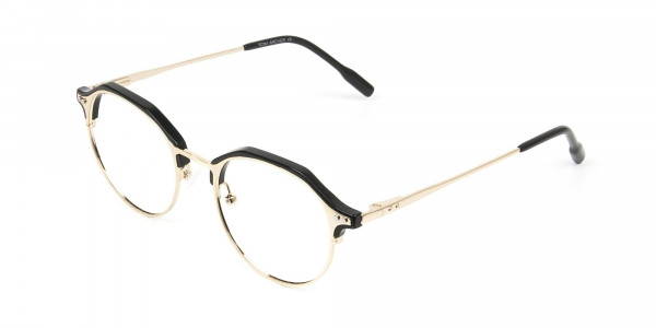 Gold & Black Weightless Glasses in Mixed Material - 3