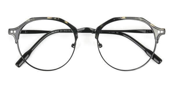 Black Marble Weightless glasses in Mixed Material - 6