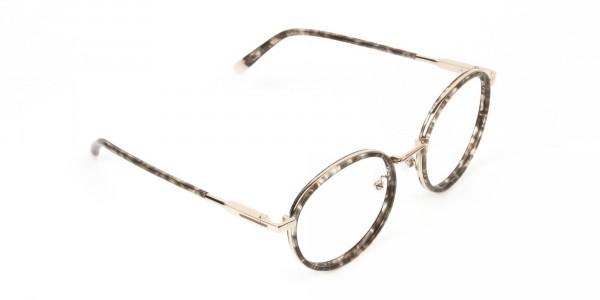 High Nose Bridge Glasses in Tortoiseshell Round Frame  -2