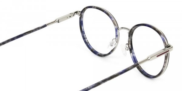 Ocean Blue Tortoise & Silver Eyeglasses - 5