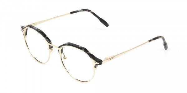 Marble Grey & Gold Weightless Glasses in Mixed material - 3