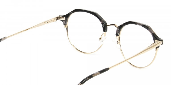 Marble Grey & Gold Weightless Glasses in Mixed material - 5