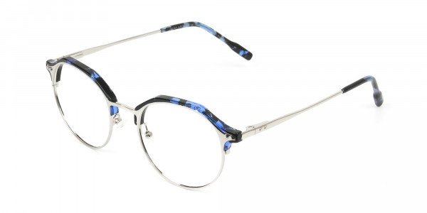 Blue Marble & Silver Weightless Glasses  in Mixed material  - 3