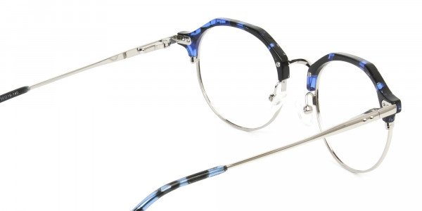Blue Marble & Silver Weightless Glasses  in Mixed material  - 5